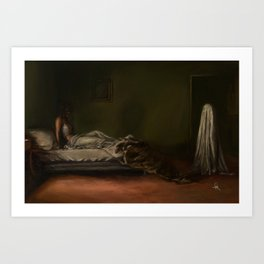 A Ghost At The Door Art Print
