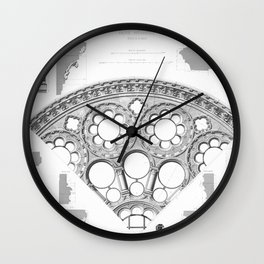 Notre Dame Rose Window Facade Architecture Wall Clock