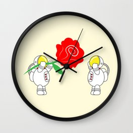 Astro Love Story | Roses Are Red | Valentines | Love You | pulps of w Wall Clock