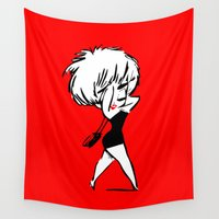 madonna Wall Tapestries featuring Madonna - Who's that Girl - Pop Art by William Cuccio aka WCSmack