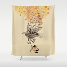 The wacky traveling machine Shower Curtain