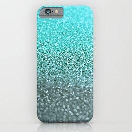 TEAL GLITTER iPhone Case