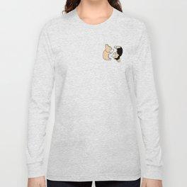 Corgi Dog Yin Yang Long Sleeve T-shirt