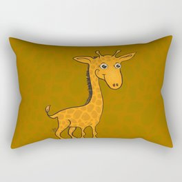 Giraffe - Sepia Brown Rectangular Pillow