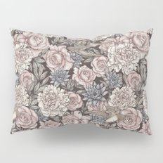 Flowers & Swallows Pillow Sham
