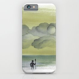 winter beach and thought of Neptune - naive scenery - Yaara Happy Art iPhone Case