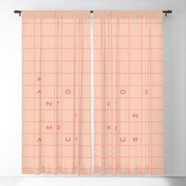 pantone amour Blackout Curtain