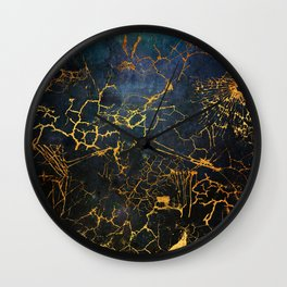KINTSUGI  ::  Embrace Damage Wall Clock