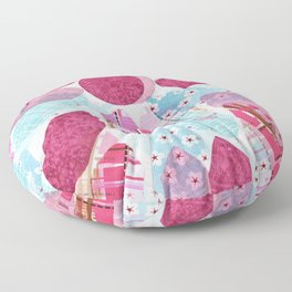 Patchwork-Collage Love Floor Pillow