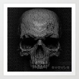 Evolution Series Skull Matrix Art Print