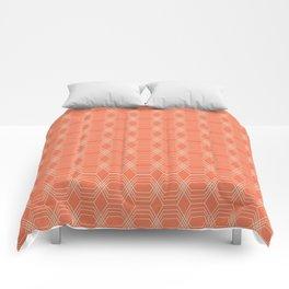 hopscotch-hex tangerine Comforters