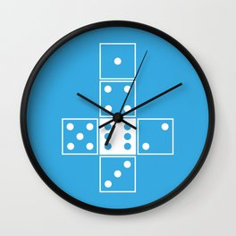 Blue Unrolled D6 Wall Clock