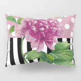 Artsy Pink Peony Pillow Sham