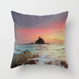 Sea Rock Throw Pillow