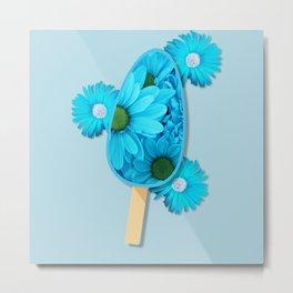 Cyan daisies popsicle Metal Print