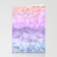 polygon Stationery Cards featuring pastel polygon by artsimo