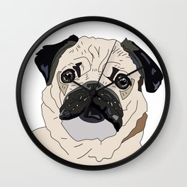 Pug Puppy Wall Clock