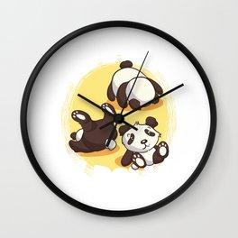 This Is How I Roll Panda Bear Pun Wall Clock