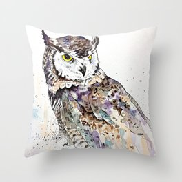 Vancouver Owl Throw Pillow