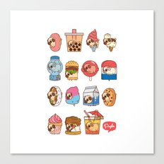 Puglie Food Collection 3 Canvas Print