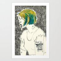 paramore Art Prints featuring Waking from the dead by Marconte