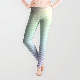 Pastel Rainbow Ombre Chevron Stripe Leggings