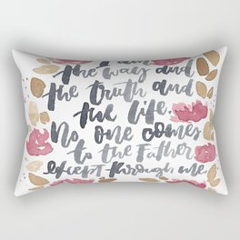 John 14:6 Rectangular Pillow