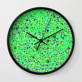 Colorful Rain 10 Wall Clock