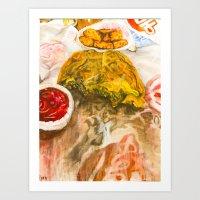 Sunrise Croissan'wich Art Print