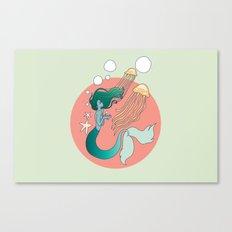 Mermaid Version 2 Canvas Print