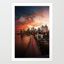 NEW YORK CITY IX Art Print