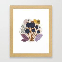 Fall Floral Bouquet Framed Art Print