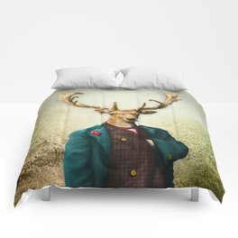 Lord Staghorne in the wood Comforters