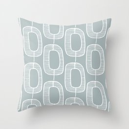 Mod Link Pattern, Azure Throw Pillow