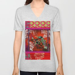 An afternoon in the oriental gardem Unisex V-Neck