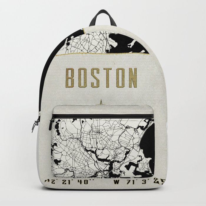 Boston - Vintage Map and Location Backpack