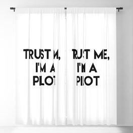 Trust me I'm a pilot Blackout Curtain