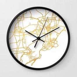 QINGDAO CHINA CITY STREET MAP ART Wall Clock