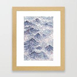 Distant View - 遠望 series -Linocut Framed Art Print