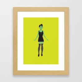 Wicked Witch in Underwear Framed Art Print