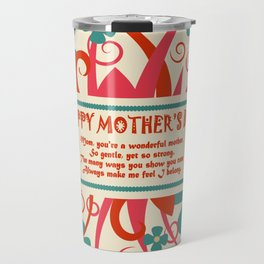 mother's day postcard design element Travel Mug