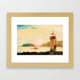 A Day In Maine Framed Art Print