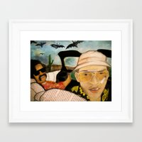 fear and loathing Framed Art Prints featuring Fear & Loathing by Lindsey Pudlewski