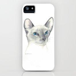 blue point siamese cat 1 iPhone Case