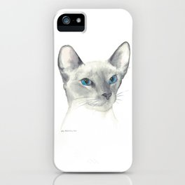 blue point siamese cat 1 iPhone Case