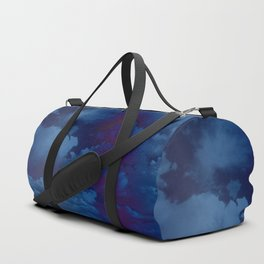 Clouds in a Stormy Blue Midnight Sky Duffle Bag