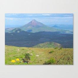 Camping El Hoyo, Nicaragua Canvas Print