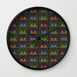 Neon Mix Volume 1 Wall Clock