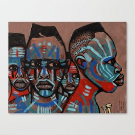 2018 Natives of the Planit of Warrior Means art by Marcellous Lovelace Canvas Print