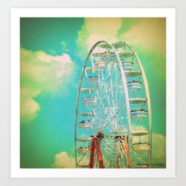 Country Fair Ferris Wheel #2 Art Print